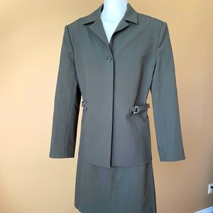 Suit skirt + blazer green medium
